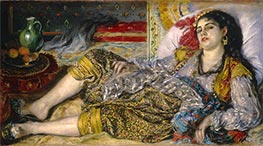 Odalisque (An Algerian Woman), 1870 by Renoir | Painting Reproduction