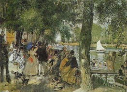 La Grenouillere, 1869 by Renoir | Painting Reproduction