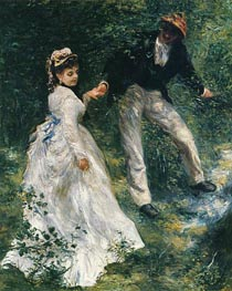 The Promenade, 1870 by Renoir | Painting Reproduction