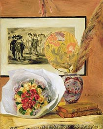 Still Life with Bouquet and Fan | Renoir | Painting Reproduction