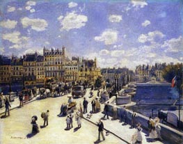 Le Pont-Neuf, Paris, 1872 by Renoir | Painting Reproduction