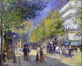The Boulevards of Paris, 1875 by Renoir | Painting Reproduction