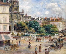 Place de la Trinite, Paris, 1875 by Renoir | Painting Reproduction