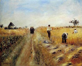The Harvesters, 1873 by Renoir | Painting Reproduction