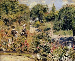 The Garden at Fontenay, 1874 by Renoir | Painting Reproduction