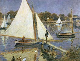 The Seine at Argenteuil (Sailboats at Argenteuil) | Renoir | Painting Reproduction