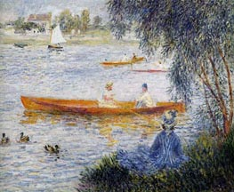 Boating at Argenteuil, 1873 by Renoir | Painting Reproduction
