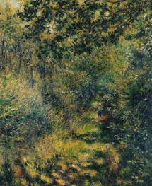 Path in the Forest, c.1874 by Renoir | Painting Reproduction