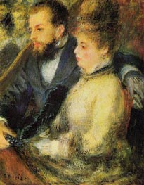 Box at the Theatre, c.1873 by Renoir | Painting Reproduction