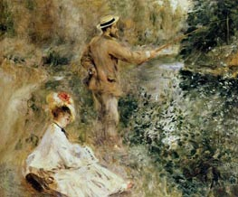The Fisherman, 1874 by Renoir | Painting Reproduction