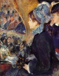 La Premiere Sortie (At the Theatre), c.1876/77 by Renoir | Painting Reproduction