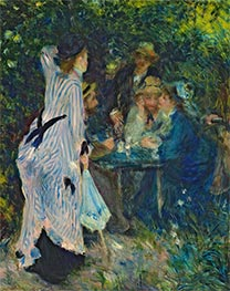 Under the Arbour at the Moulin de la Galette, c.1875 by Renoir | Painting Reproduction