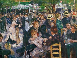 Dance at the Moulin de la Galette, 1876 by Renoir | Painting Reproduction