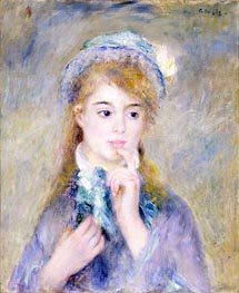 The Ingenue, c.1876 by Renoir | Painting Reproduction