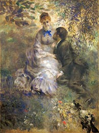The Lovers, c.1875 by Renoir | Painting Reproduction