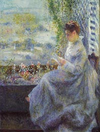 Madame Chocquet Reading, 1876 by Renoir | Painting Reproduction