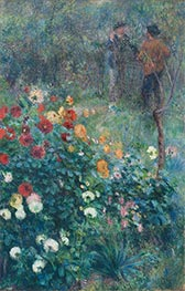 The Garden in the Rue Cortot at Montmartre, 1876 by Renoir | Painting Reproduction