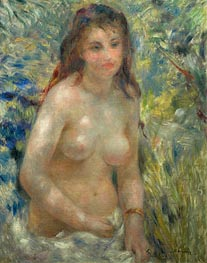 Nude Torso in the Sunlight (Torso of Anna), c.1875/76 by Renoir | Painting Reproduction