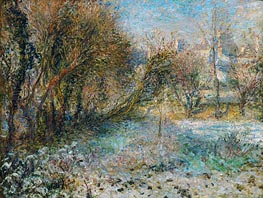 Snowy Landscape, c.1875 by Renoir | Painting Reproduction