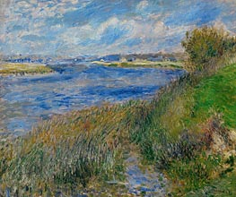 The Banks of the Seine at Champrosay, 1876 by Renoir | Painting Reproduction