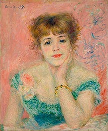 Bust of Jeanne Samary (Day-Dreaming), 1877 by Renoir | Painting Reproduction