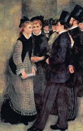 Leaving the Conservatoire, 1877 by Renoir | Painting Reproduction