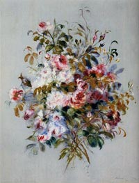 A Bouquet of Roses, 1879 by Renoir | Painting Reproduction