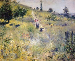 Path Leading through Tall Grass, 1876 by Renoir | Painting Reproduction