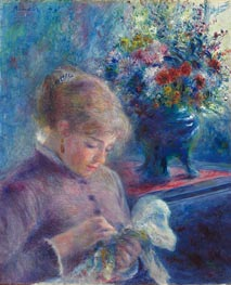 Young Woman Sewing | Renoir | Gemälde Reproduktion