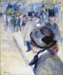 Place Clichy, c.1880 by Renoir | Painting Reproduction