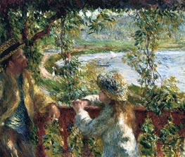 Near the Lake, c.1879 by Renoir | Painting Reproduction
