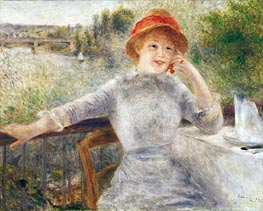 Alphonsine Fournaise on the Isle of Chatou | Renoir | Gemälde Reproduktion