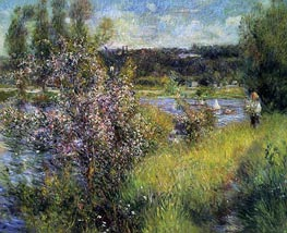 The Saine at Chatou, c.1881 by Renoir | Painting Reproduction