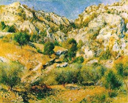 Rocky Craggs at l'Estaque | Renoir | Gemälde Reproduktion