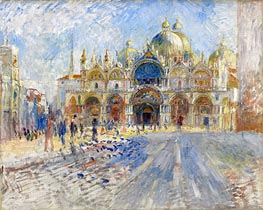 The Piazza San Marco, Venice | Renoir | Painting Reproduction