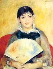 Girl with a Fan | Renoir | Gemälde Reproduktion