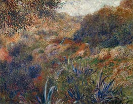 Algerian Landscape (The Ravine of the Wild Women) | Renoir | Painting Reproduction