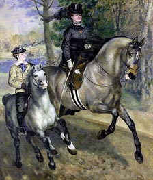 Riding in the Bois de Boulogne (Madame Darras) | Renoir | Painting Reproduction