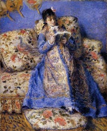 Camille Monet Reading | Renoir | Painting Reproduction