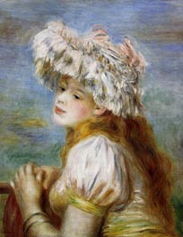 Young Girl in a Lace Hat | Renoir | Gemälde Reproduktion