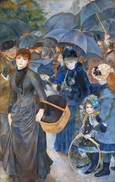The Umbrellas, c.1881/86 by Renoir | Painting Reproduction