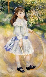 Girl with a Hoop, 1885 by Renoir | Painting Reproduction