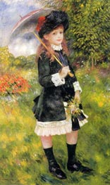 Girl with a Parasol (Aline Nunes) | Renoir | Painting Reproduction