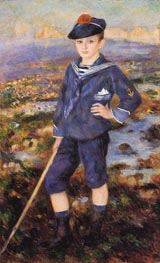 Sailor Boy (Portrait of Robert Nunes), 1883 by Renoir | Painting Reproduction