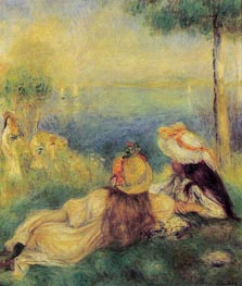 Young Girls at the Seaside, 1894 von Renoir | Gemälde-Reproduktion