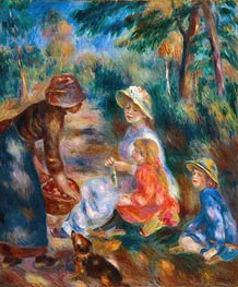 The Apple Seller, c.1890 by Renoir | Painting Reproduction