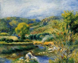 The Washerwoman (The Laundress), c.1891 by Renoir | Painting Reproduction