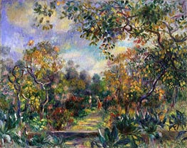 Landscape at Beaulieu, c.1893 by Renoir | Painting Reproduction