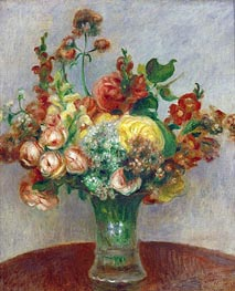 Flowers in a Vase | Renoir | Painting Reproduction