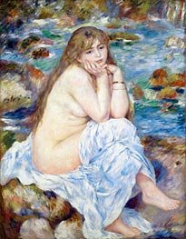 Seated Bather, c.1883/84 by Renoir | Painting Reproduction